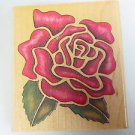Rose Rubber Stamp Flower Botanical card making Rubber Stampede