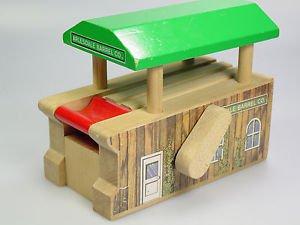 Thomas Train Arlesdale Barrel Co barrel loader Wooden railway roller building