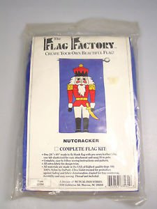 Nutcracker Flag Kit Christmas Holiday Sewing Craft Outdoor Flag Factory # 63564