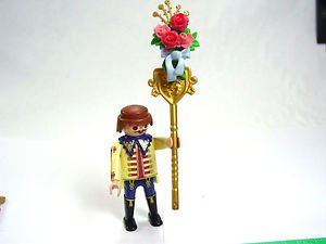 Playmobil Footman Wedding Carriage Driver figure staff flowers roses bow 4258