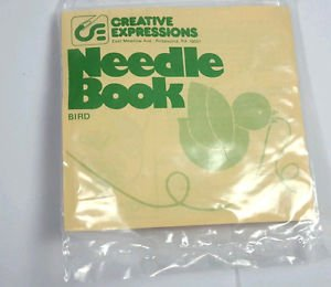 Creative Expressions Crewel Bird Sewing Needle Book tiny Kit VTG hostess gift