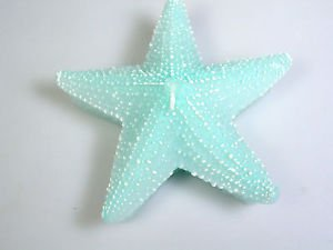 "Starfish Floating Candle Turquoise 5"" Pool Party Beach House Summer party gift"