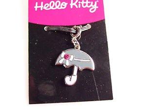 Sanrio Hello Kitty umbella rhinestone pendant charm zipper pull 2005