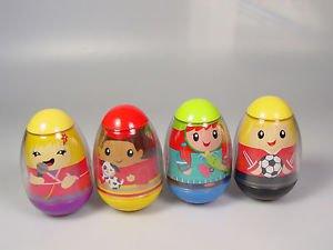 Weebles choose 1 soccer player boy girl skateboarder plastic egg toy