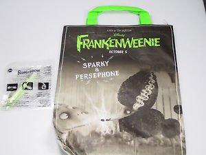 Disney FRANKENWEENIE Persephone Sparky Tim Burton Halloween treat bag subway