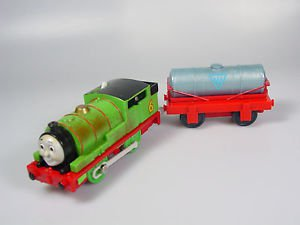 Thomas Friends Trackmaster Motorized Dirty oily Percy and tanker train engine