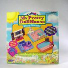 Galoob My Pretty Dollhouse bedroom nursery Furniture fireplace living room Vtg