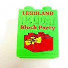 2007 Legoland California LEGO brick Holiday Block party promotional Green brick