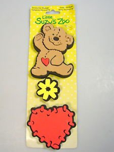 Little Suzys zoo stamps Boof the bear heart flower nursery wall fabric furniture