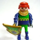 Playmobil 4643 Knight prince Figure Castle Blue Green Yellow shield cake topper