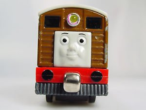 Thomas the train Take Along Metal Talking Toby Train engine Die Cast