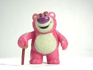 Disney Toy Story bear Lotso pink mean villain  Action figure pvc Cake topper