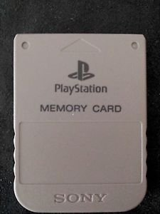 Playstation 1 PS1 Official Memory Card Gray