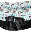 Snuggle Bugs - Aqua Party Dots - Dog Pet Bed + Bag + Car Seat in One