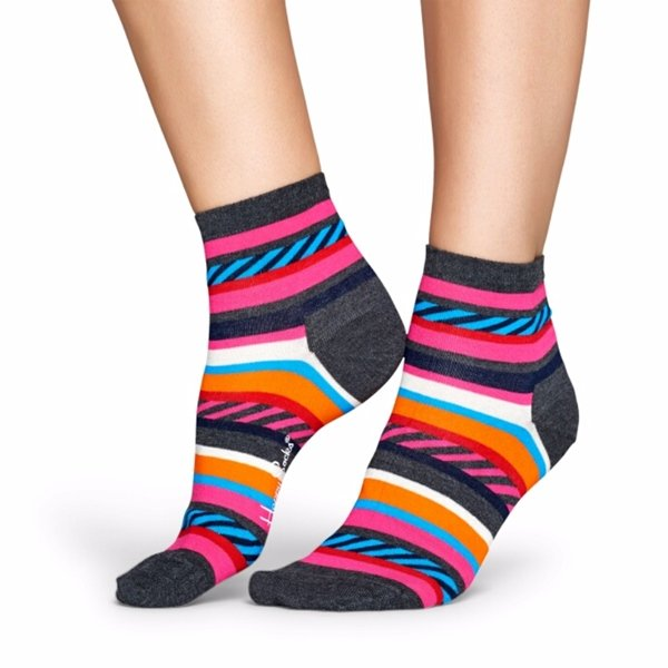 Happy Socks Bright Colored Anklet for Women Size 9-11 One Pair