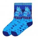 Blue Felines Crew Socks by Laurel Burch for Women Size 9-11