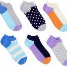 Happy Socks Women's Low Cut Ankle Socks 6 Pair Size 9-11 Mini Dots