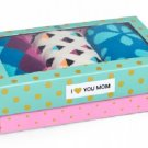 Happy Socks 3 Pair Gift Box Set for Women Size 9-11 Crew Socks