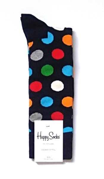 Happy Socks Big Dot Crew Socks for Men Size 10-13