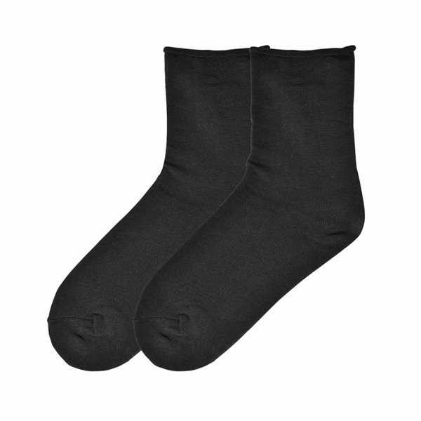 Women's Relaxed Top Casual Crew Socks by K Bell Black Size 9-11