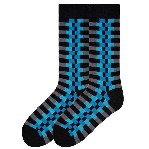 KBell Zipper Stripe Pima Cotton Socks Size 10-13 One Pair