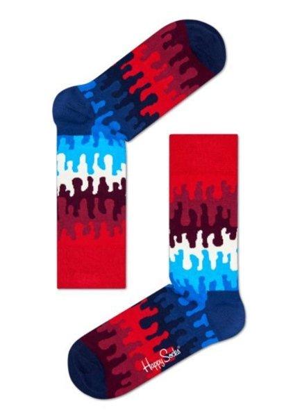 Happy Socks  Goo Sock Blue Red White for Men and Women One Pair