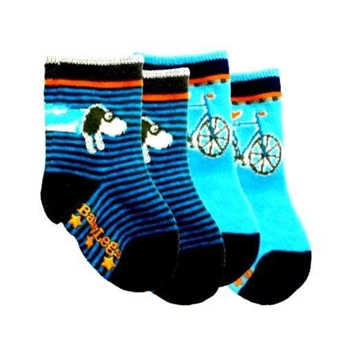 2 Pair Pack Run, Spot Baby Socks by Baby Legs