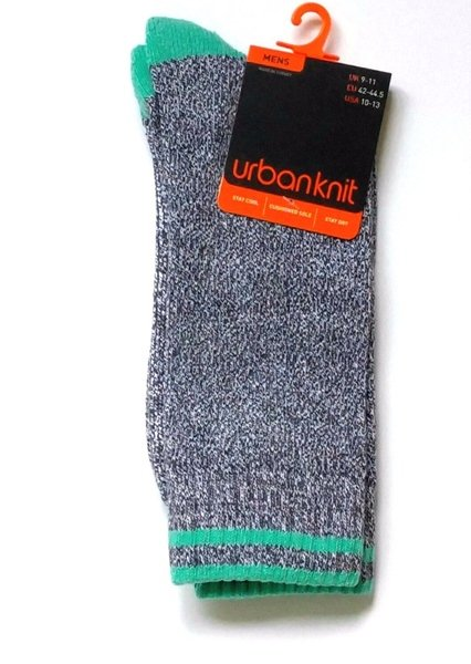 Urban Knit Cushioned Crew Socks for Men Extra Soft Size 10-13