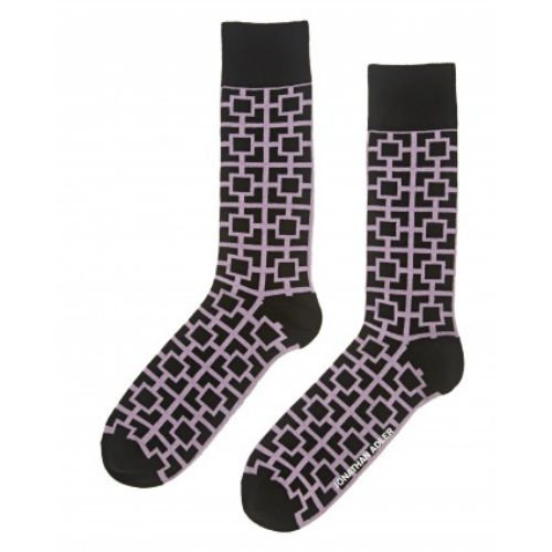 Jonathan Adler Men's Nixon Crew Socks Black Pink Casual Size 10-13