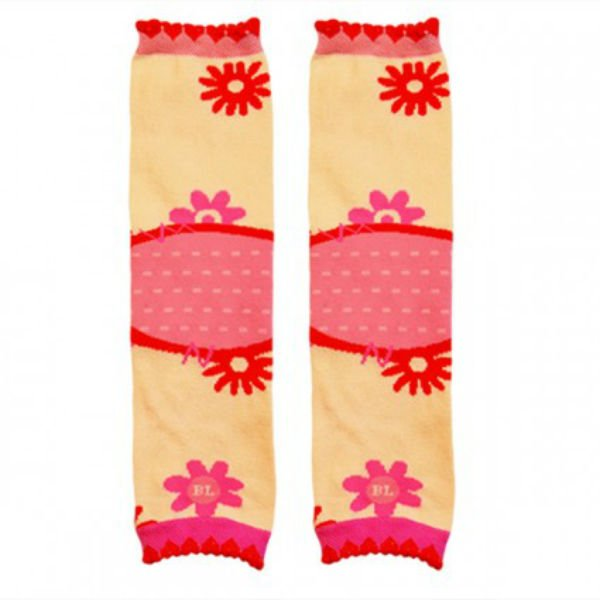 BabyScoot Flowers Legwarmers Baby Legs Thick Terry Cushioning on the Knee Area