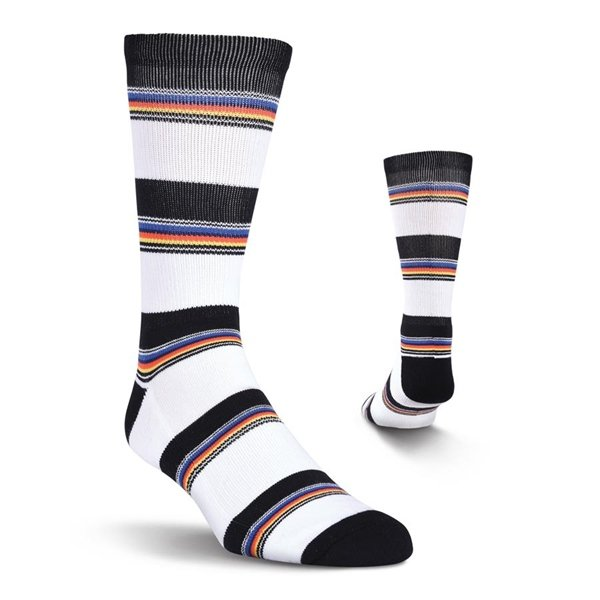 Men's Multi Colored Stripe Crew Athletic Socks by Kurb One Pair Size 10-13