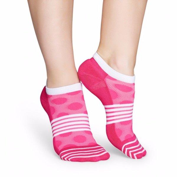 Happy Socks Women's Mesh Dot Athletic Low Cut Ankle Socks Size 9-11 One Pair