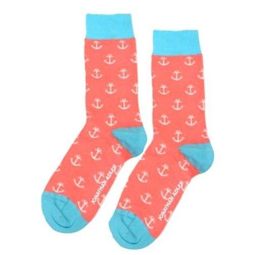 Jonathan Adler Anchor Crew Socks for Women Size 9-11