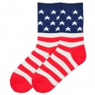 KBell Flag Crew Socks for Men Arch Support Size 10-13 One Pair