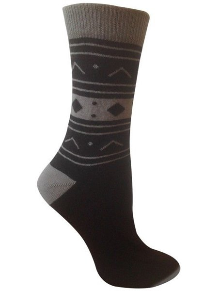 Sedna Ebony Unisex Crew Socks by Rock N Socks Organic Cotton Sock Size 10-13