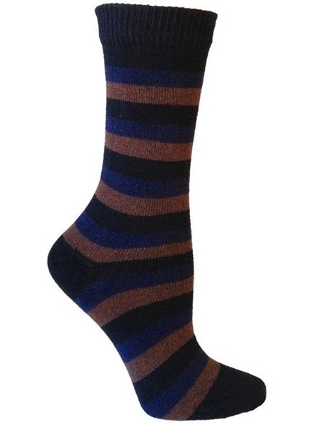 Apollo Striped Casual Crew Socks for Men by Rock N Socks 10-13 Eco Friendly