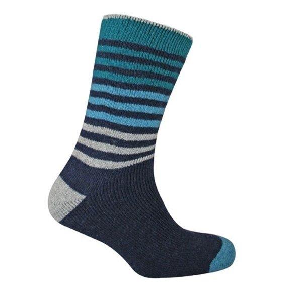 Urban Knit Men's Ombre Stripe Wool Boot Socks 10-13 One Pair