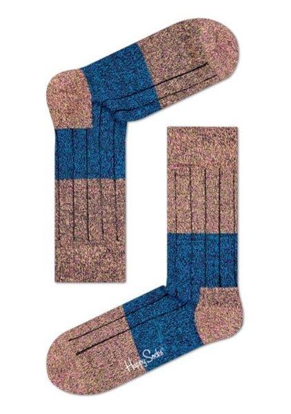 Happy Socks, Wool Block Sock for Men and Women One Pair
