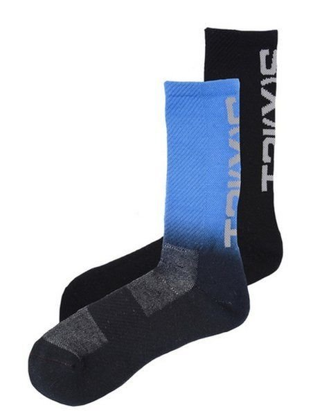 2XIST Sport Crew Socks 2 Pair Size 10-13 Includes 1 Solid Color and 1 Dip Dye