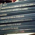 9 BOOKS~FISHING LIBRARY~TROUT~LURES~BASS~LIVE BAIT~LOT