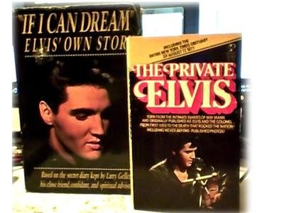 2 BOOKS~ELVIS~IF I CAN DREAM~SECRET DIARY~PRIVATE ELVIS