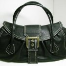 Auth CELINE Large Shoulder Tote Bag Calfskin Leather Handbag Black GHW