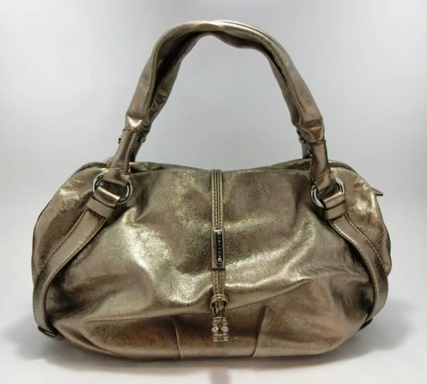 Celine Leather Shoulder Bag Gold