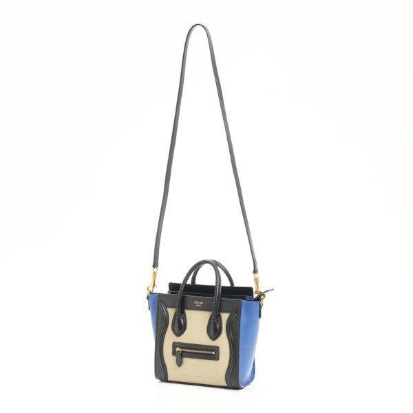 Celine Luggage Nano Shopper 2way Shoulder Bag