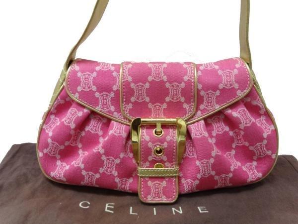 Beautiful Celine Shoulder Bag Denim Pink