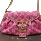 Beautiful Celine Shoulder Bag Denim Pink