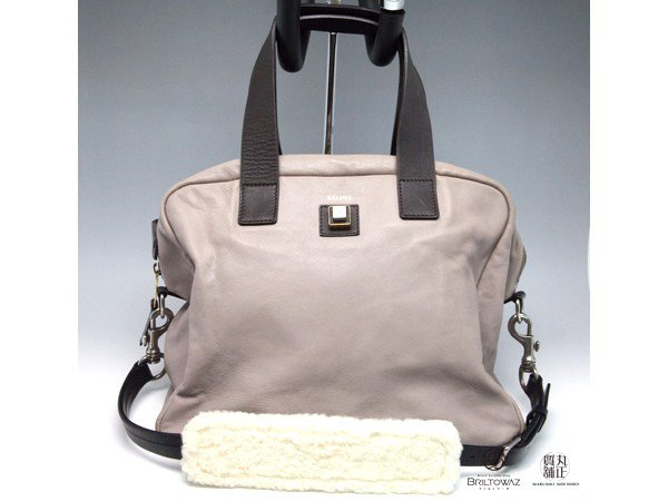 Celine Square Satchel 2WAY Light Gray