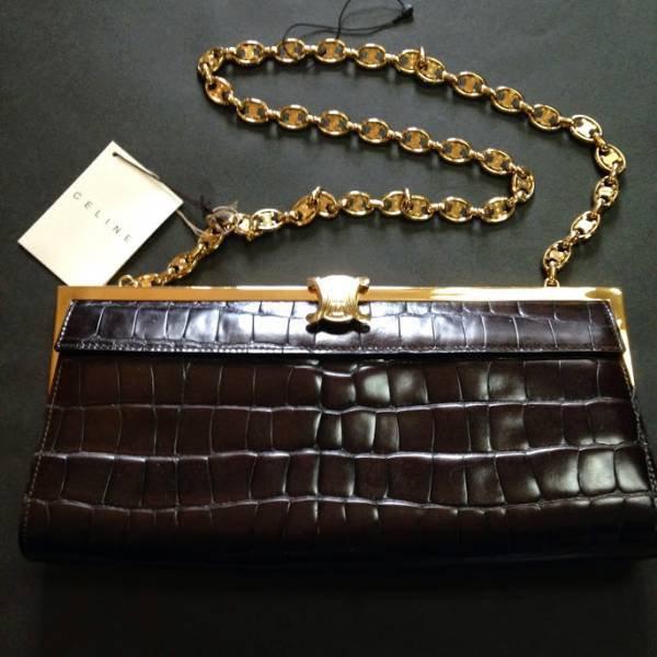 Celine Chain Shoulder Bag Leather