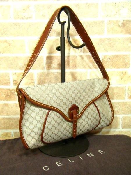 Elegant Celine One Shoulder Bag Macadam Pattern Letter