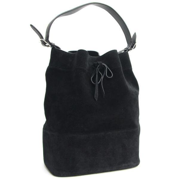Celine One-Shoulder Bag Black Suede Pouch